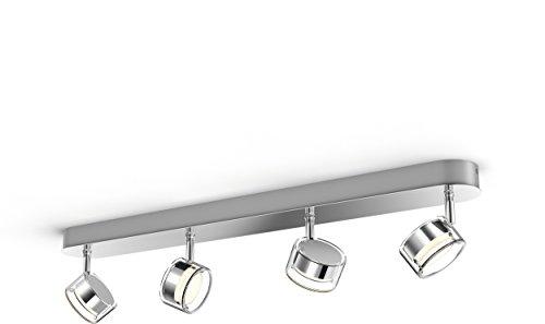 Philips myLiving 4 Focos LED, 2000 lm, iluminación interior, 4.5 W