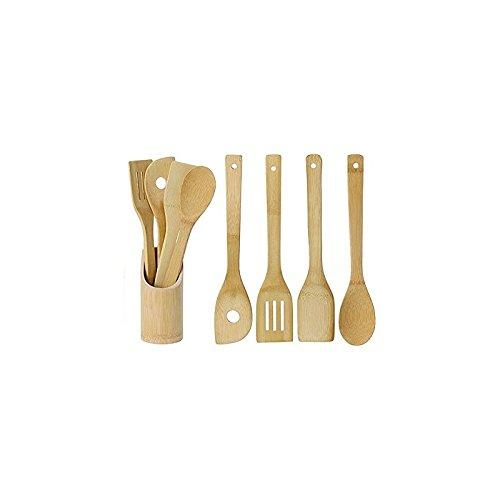 Kit de utensilios de fibra de bambú