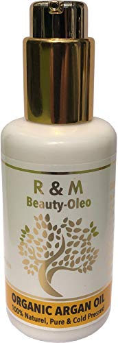 R&M Arganöl - Premium Argan Öl Für Gesicht, Körper, Haar Und Vieles Mehr - 100% Bio & Fairtrade Aus Marokko - Für Eine Schönere Haut, Ein Reines Gesicht Und Glänzendes Haar - 100ml Pump-Flasche - Körper-haar-Öl