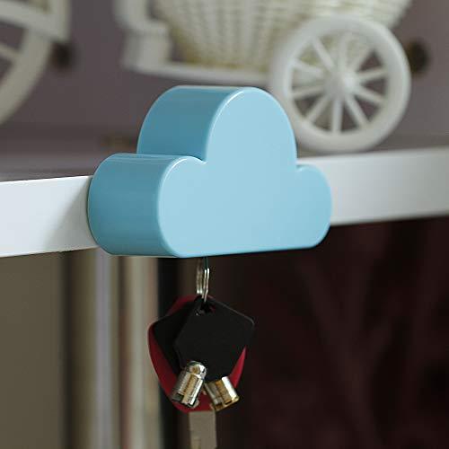 Blau Cloud magnetisch Wand Halter Key Organizer Leistungsstark Magnete halten Schlüsselanhänger und lose Schlüssel Sicher in place- einfach zu montieren, verwendet in Home Office und Küche