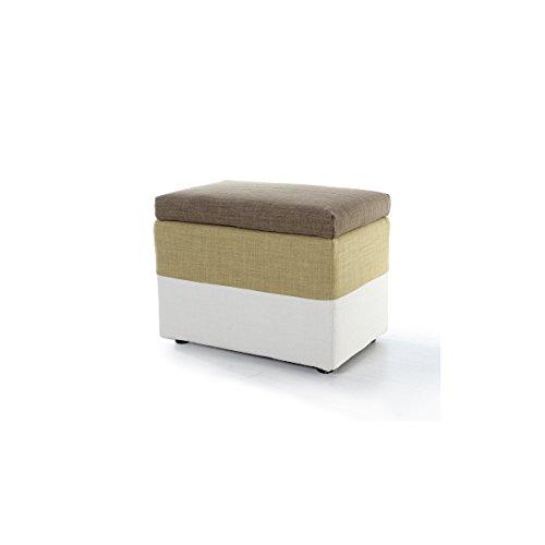 AJZXHE Stoff Sofa Hocker Einfach versuchen, Schuhe Hocker tragen Creative Wohnzimmer Freizeit Hocker Square Storage Hocker (Farbe : E)