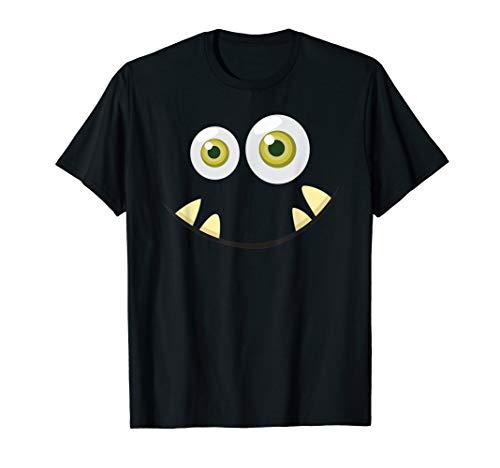 Monster Gesicht Halloween T-Shirt Kostüm Ideen Gesicht - Cute Girl Monster Kostüm