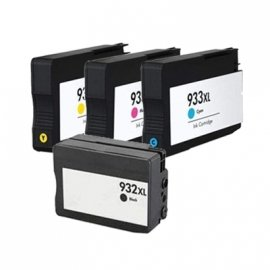 Prestige Cartridge Remanufactured High Yield Ink Cartridges Replacement for HP 932XL and HP 933XL Series - Assorted Colour (Pack of 4)