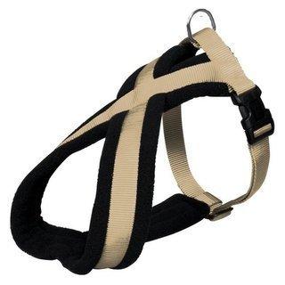 premium-harnais-chien-taille-s-m-40-60-cm-25-mm-beige-confortable-a-porter-grace-a-la-doublure