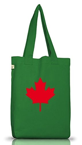 Shirtstreet24, CANADA/KANADA, Länder Jutebeutel Stoff Tasche Earth Positive (ONE SIZE) Moss Green