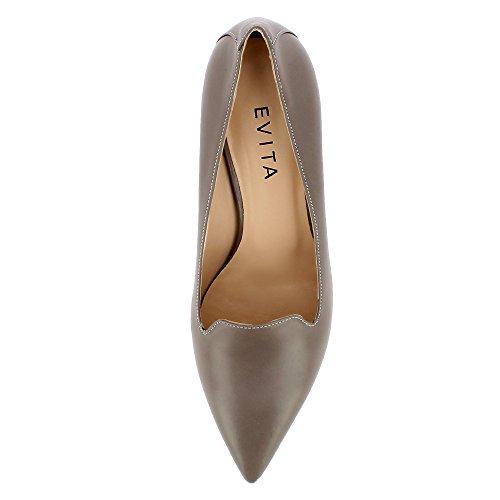 Evita Shoes  Romina, Escarpins pour femme Taupe