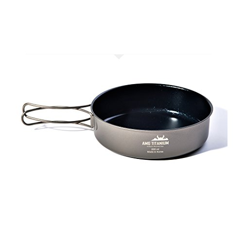 AMG Titanium Outdoor Camping Cookware Frying Pan Backpacking Picnic - Medium Unison 12