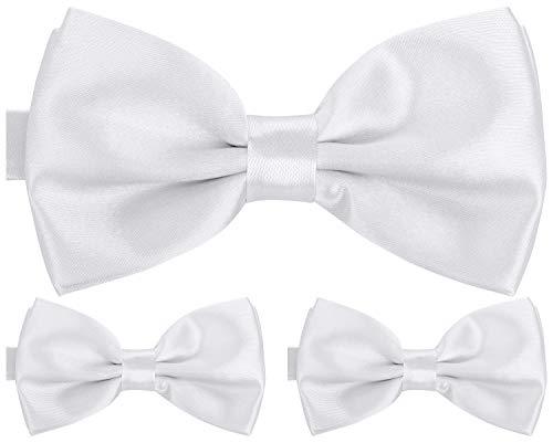 BomGuard Fliege für Herren weiß I Männer Fliege für Hochzeit, Party oder edele Anlässe I Trendy Bow Tie I 3er Set Schleifen Gold Bow Tie