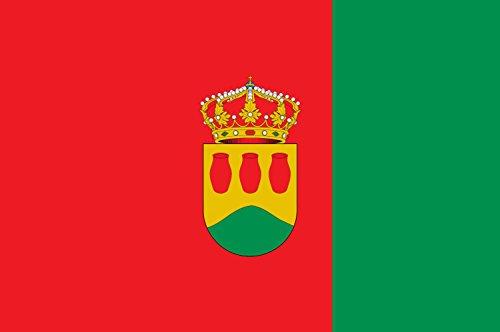 DIPLOMAT Flagge Alcorcón | D Alcorcón | Alkorkono | Alcorcóngo bandera | E Alcorcón | Bandièra d Alcorcón | Querformat Fahne | 0.06m² | 20x30cm für Diplom