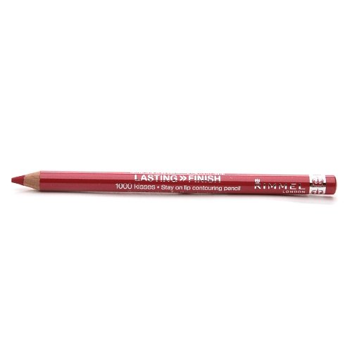 Rimmel Crayon contour des lèvres 1000 Kisses - Tracé précis et régulier, intense en couleur - Longue tenue - Coloris Red Dynamite (Ensemble de 3)