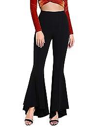 cebf047ea8 Amazon.it: Pantaloni a zampa - Pantaloni / Donna: Abbigliamento