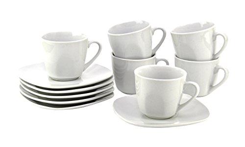 VAN WELL Atrium Set tazzine da caffè con piattino, per 6Persone
