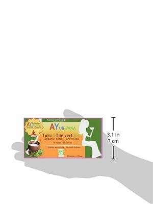 AYur-vana Tulsi-Thé Vert Bio 25 Infusettes