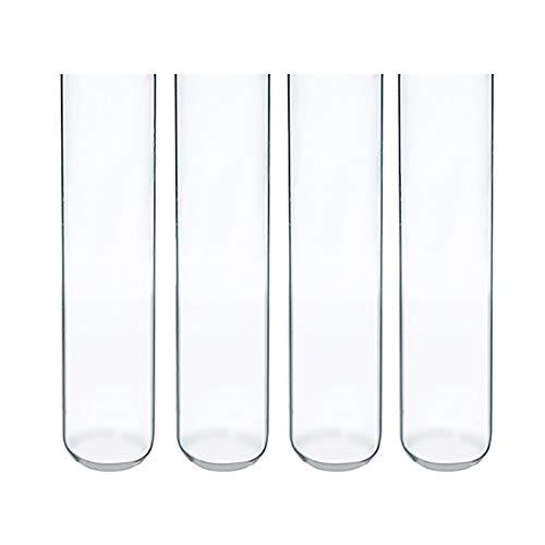 YXFYXF Transparente ReagenzgläSer Mit Rundem Boden Im Labor, 6 Ml, 10 Mm X 100 Mm, Hohe TemperaturbestäNdigkeit, Laborchemie, Wissenschaftliches Experiment (Packung 50/100),50Pcs -
