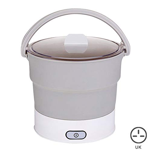 Amneria Folding Electric Hot Pot, Skillet Kettle Heated Food Container Travel Cooker Tool for Life