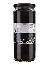 Ryca Premium Quality Pitted Black Olives - 450 gm