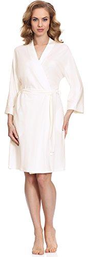 Merry Style Robe de Chambre Femme MS544 Ecru