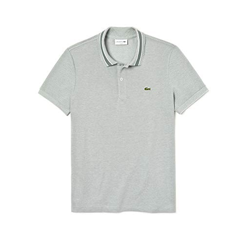 Lacoste PH4251 Herren Polo Shirt Kurzarm,Männer Polo-Hemd,2 Knopf,Slim Fit,Grassy/Flour(92K),Large (5)