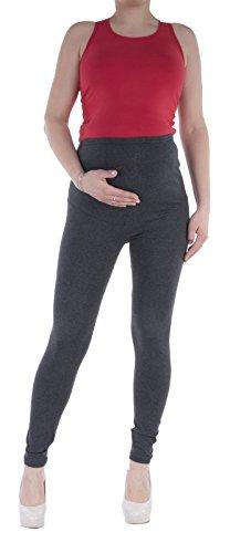 Jandaz® Standard- oder Winter-Leggings für Schwangere, volle Länge, Dreiviertel-Länge oder kurz, 95% Baumwolle, in vielen Farben erhältlich Dunkelgrau