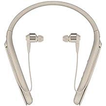 Sony WI1000X Cuffie In-Ear Stereo, Bluetooth, Digital Noise Cancelling con Microfono Integrato, Neck-Band, Compatibile con Amazon Alexa, Oro