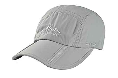 Pingenaneer Outdoor Quick Dry Collapsible Baseball Cap / Foldable Waterproof UPF50+ Protect Sun Hat