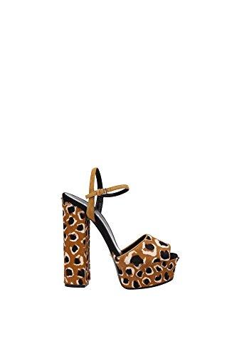 Sandali Gucci Donna Cavallino Tabacco 355391CMS302759 Marrone 37.5EU