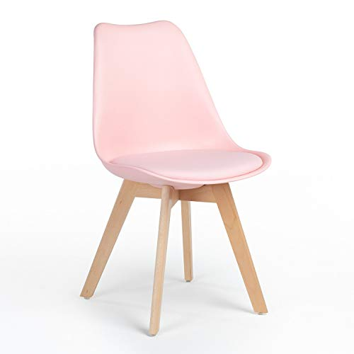 SKLUM Silla Nordic Algodón de Azúcar - (Elige Color)