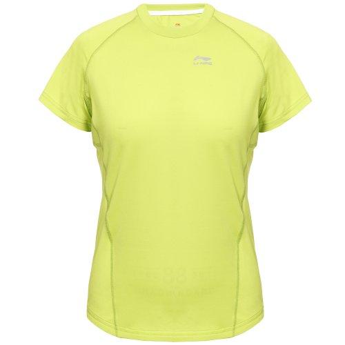 Li Ning C238 T-shirt de course pour femme Vert - Vert