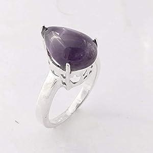 Amethyst Gemstone Handmade 925 Sterling Silver Ring Jewelry