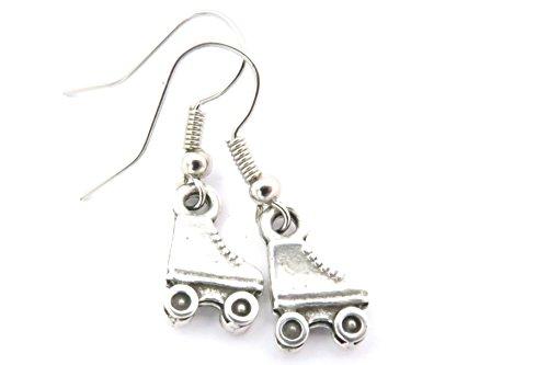 Rollschuh Ohrringe Modeschmuck Schuh Ohrschmuck silber-farben