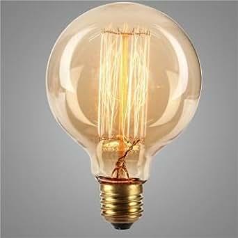 E27 4W g95 19 ancres ampoule vintage verre clair antique filamnet de carbone de style Edison 110 / 220v