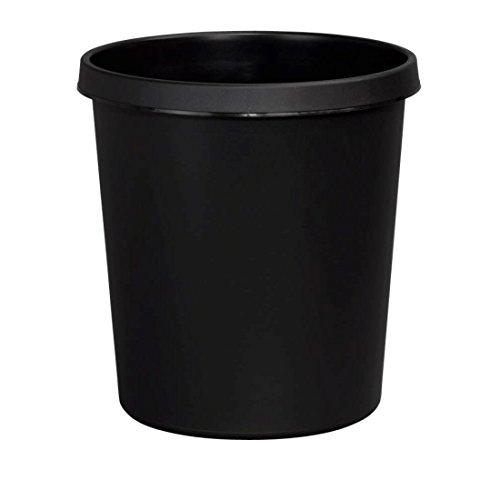 18 L mit umlaufenden Griffrand •schlag-und bruchfest • Höhe 33,5 cm mehrere Farben zur Auswahl • Papierkörbe Abfalleimer Eimer Mülleimer (Auswahl Farbe schwarz) ()