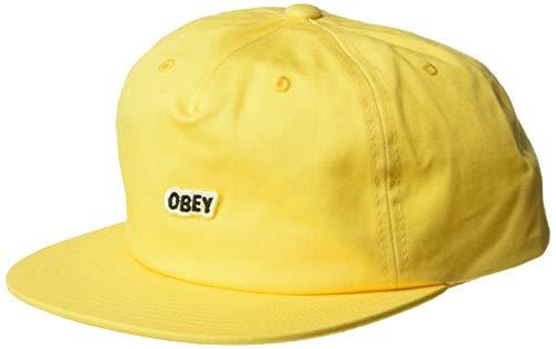Obey Herren Sleeper Snapback HAT Baseball Cap, Pale pink, Einheitsgröße Logo Sleeper