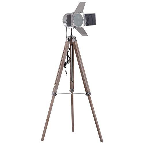 HOMCOM Stehleuchte Stehlampe Leselampe Standleuchte höhenverstellbar DreiBein E14 L65 x B65 cm - Design-stehlampe