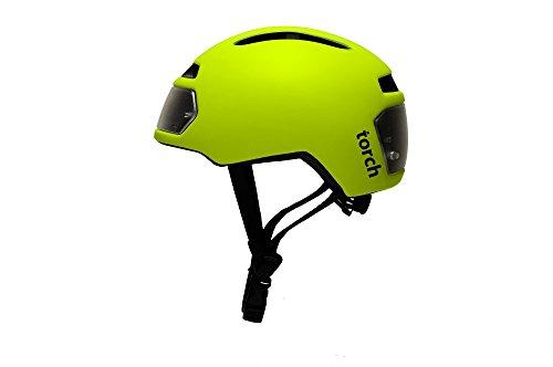 fahrradhelm neon gelb Torch T2Fahrradhelm mit integriertem Licht, Neon Gelb