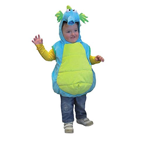 Seepferdchen Kind Kostüm - PARTY DISCOUNT® Kinder-Kostüm Seepferdchen mit Kapuze, Einh.gr