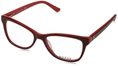 Guess Unisex-Erwachsene GU2536 066 52 Brillengestelle, Rot (Rosso Luc),