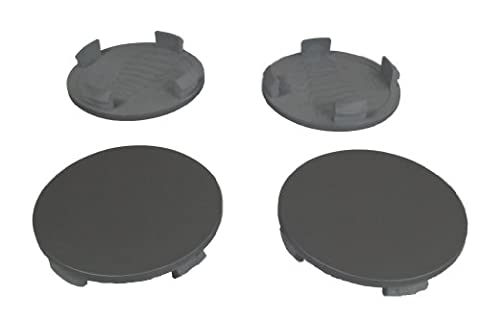 Set of 4 ALLOY WHEEL CENTRE CAPS 58mm - 60mm