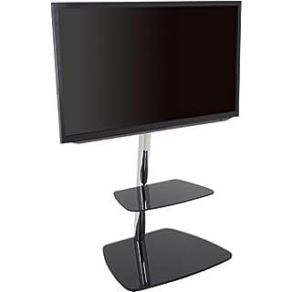AVF 39074Iseo Freitragende TV-Ständer für bis zu 55TVs-Schwarz/Silber
