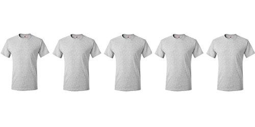 Hanes Herren T-Shirt Sport Fitness Shirt Grau
