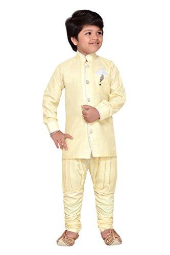 AJ Dezines kids kurta Pyjamas set for kids. (9102_LEMON_7)