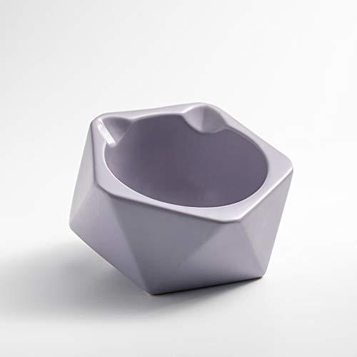 SZ-CWYP Pet Bowl Cat Bowl Keramik Katzenfutter Bowl Mode Katze Ohr Form flaches Gesicht Pet Cat Bowl,M