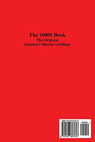 The 1000$ Book: The Original Limited Collector's Edition