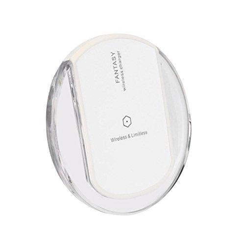 Para Samsung Galaxy S8/S8 Plus, Sannysis Qi cargador de energía inalámbrico rápido Blanco