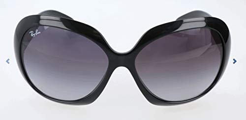 Ray Ban Unisex Sonnenbrille Jackie Ohh II, Gr. X-Large (Herstellergröße: 60), Schwarz (Gestell: Schwarz, Gläser: Grau Verlauf 601/8G)