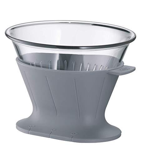 alfi 0095.218.002 Kaffeefilter Tritan, Space Grey, Größe 4, Filter zum direkten Brühen in 1 oder 2 Tassen bzw. Kannen mit größerem Ausgießer