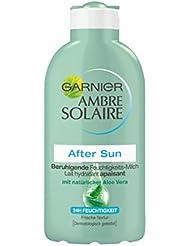 Garnier Ambre Solaire After Sun Beruhigende Feuchtigkeits-Milch, beruhigt und kühlt nach dem Sonnenbad, mit Aloe Vera, 3er Pack (3 x 200 ml)