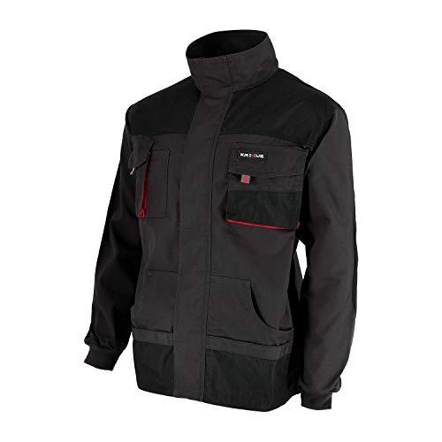 KREXUS Herren Arbeitsjacke Schwarz Gr. M EX10101M Schwarz Rot Jacke