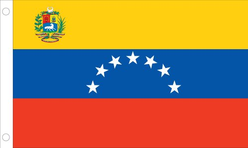 Allied Flagge Outdoor Nylon Venezuela United Nation Flagge, 4 von druckknopfstiel