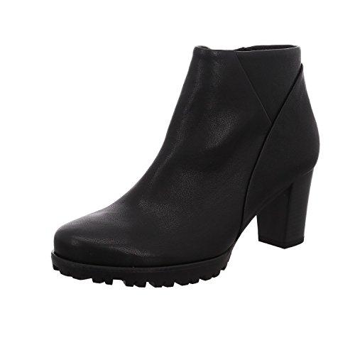 Gabor Damen Stiefelette 92.861,Frauen Stiefel,Boot,Halbstiefel,Damenstiefelette,Bootie,Hoch,Blockabsatz 5.5cm,G Weite (Normal),Schwarz (Micro),UK 5.5